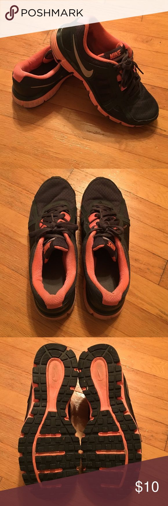 Nike Sneakers Coral and charcoal grey Nike dual fusion st2. In used condition. Some signs of wear. Women's size 10 Nike Shoes Sneakers