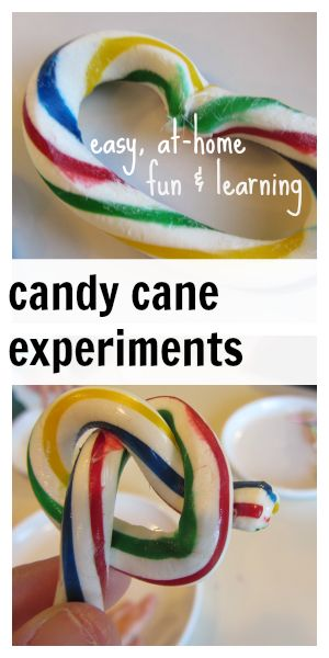 candy cane experiments, 2.0 | easy, at-home fun and so cute to make for a party