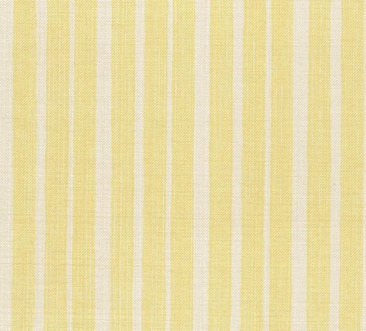Thick stripe 100% Cotton upholstery fabric in cream and pale yellow.