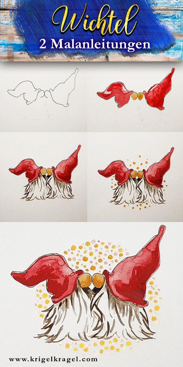Malanleitung Elfen Selber In Aquarell Malen Mit Freebie Hier