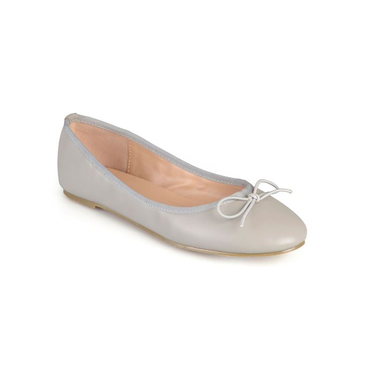 Journee Collection Vika Women's Ballet Flats, Teens, Size: medium (6.5), Grey