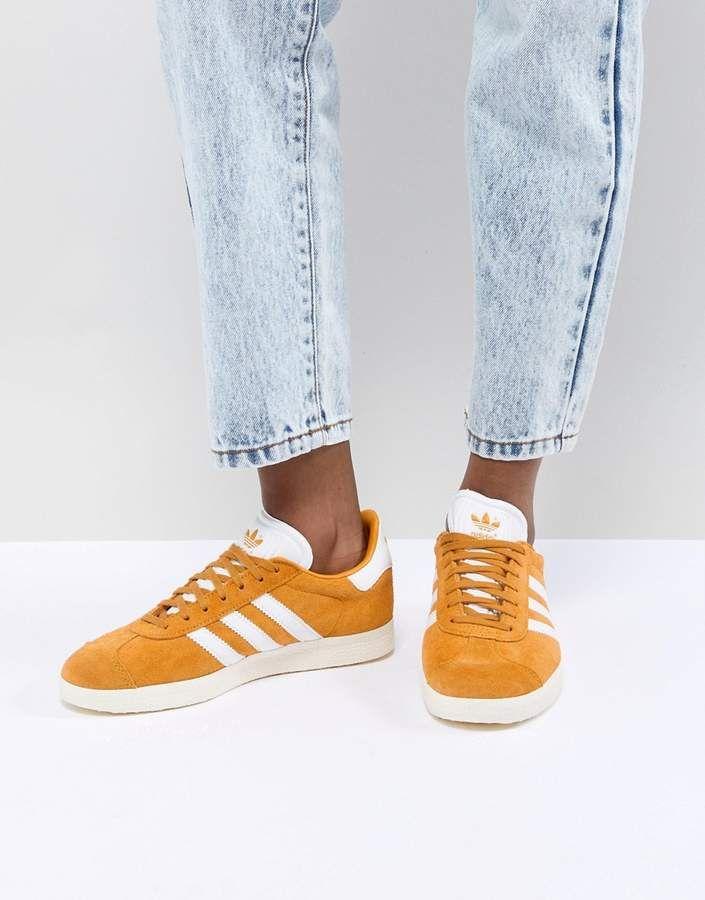 adidas gazelle dames geel