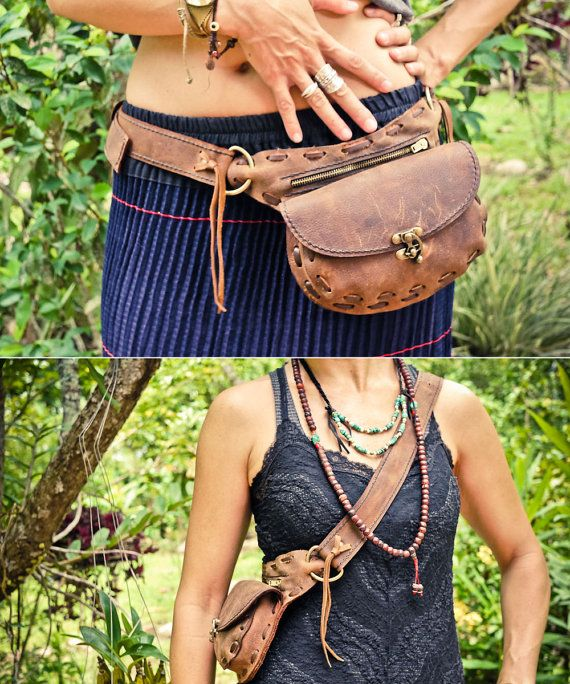 Love this!! Wanderlust Leather Hip Belt with Pockets