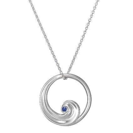 Silver Wave Pendant with Ethically Sourced Blue Sapphire. This signature Brilliant Earth pendant draws inspiration from the sea, $135. #BrilliantEarth: Waves Pendants, Brilliant Earth, Blue Sapphire, Silver Waves, Sources Blue, Sapphire Pendants, Earth Pendants, Brilliantearth, Drawings Inspiration