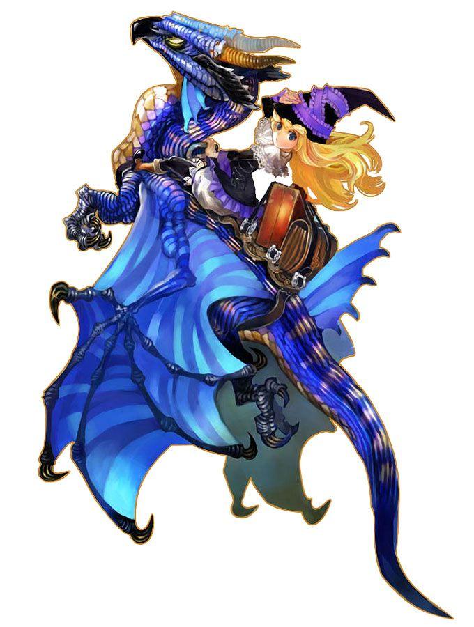 Lillet Blan Riding Dragon - Characters & Art - GrimGrimoire