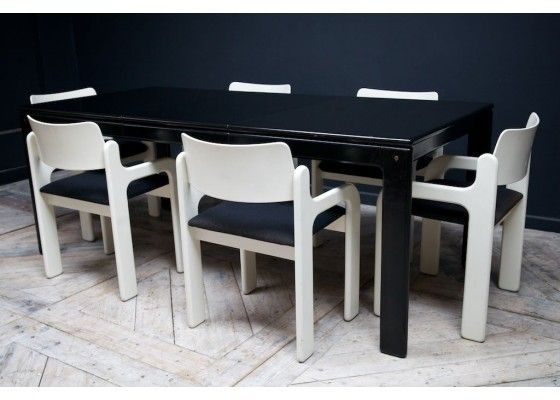 Dining Table & Chairs Set by Eero Aarnio for Asko, 1970