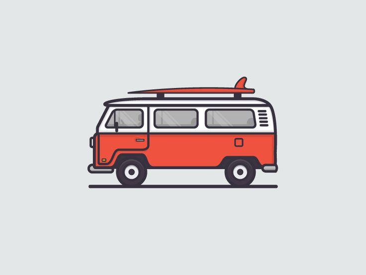 Dribbble - VW Bus by Sean Holstien