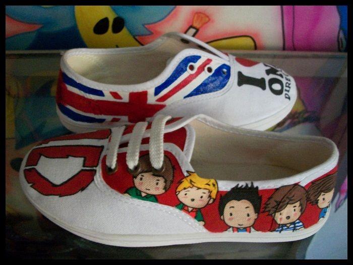 Tenis Pintados #One Direction #London