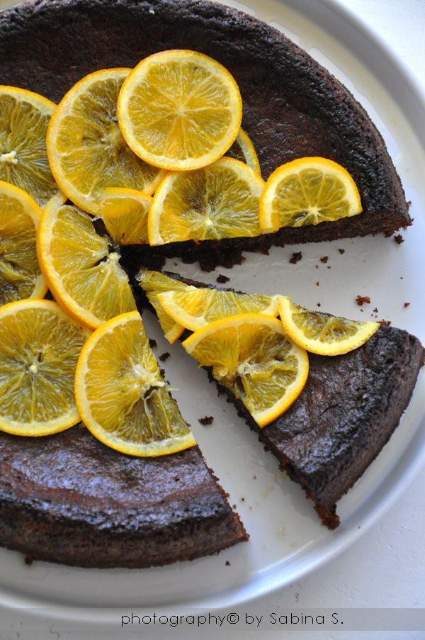Torta al cioccolato con arancia