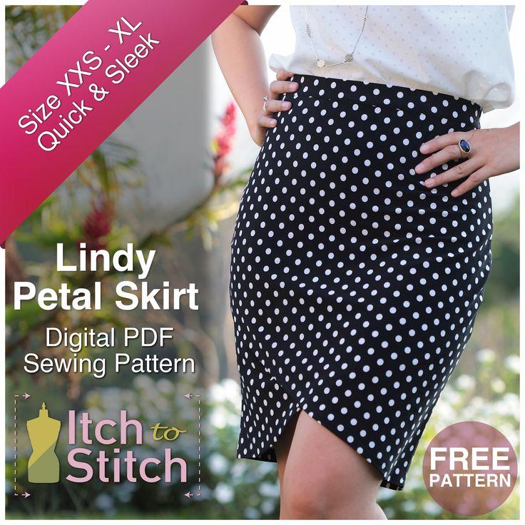 While I enjoy sewing a garment with lots bells and whistles, there's also something to be said about a quick project. Lindy Petal Skirt gives you just the instant gratification you sometimes crave.