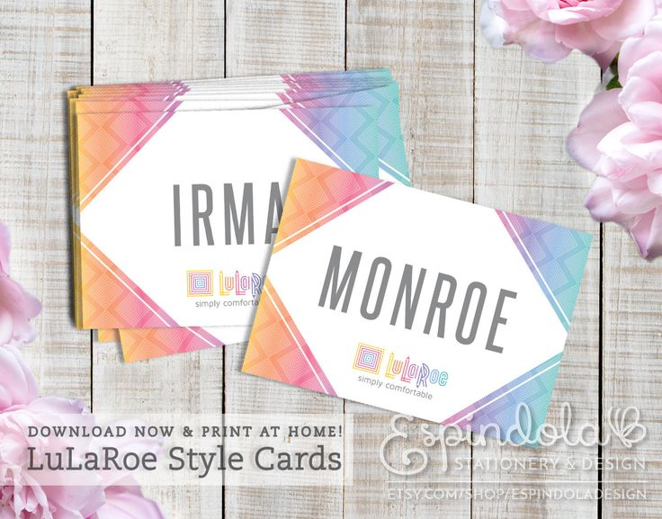 16 best lularoe images on pinterest business cards carte de print at home 35 instant files lularoe ombre diamond style cards reheart Gallery