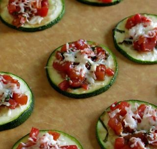 A tasty Dash diet snack- Zucchini Bruschetta is full of flavor and will suppress your appetite until your next meal.