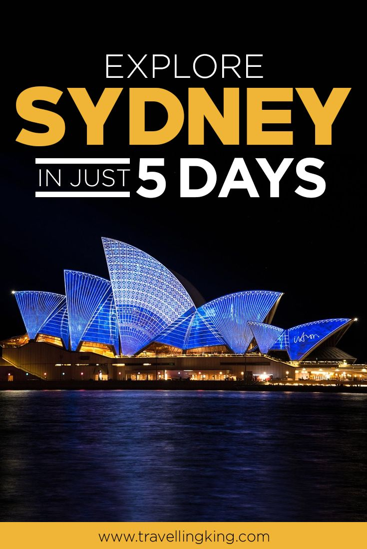 There is much to see and do in Sydney. The city is full of tourist attractions, world-famous landmarks, and, of course, it's also a cultural melting pot. You might not realise it, but it's possible to see the best of what Sydney has to offer in just five days!  #Australia #Sydney