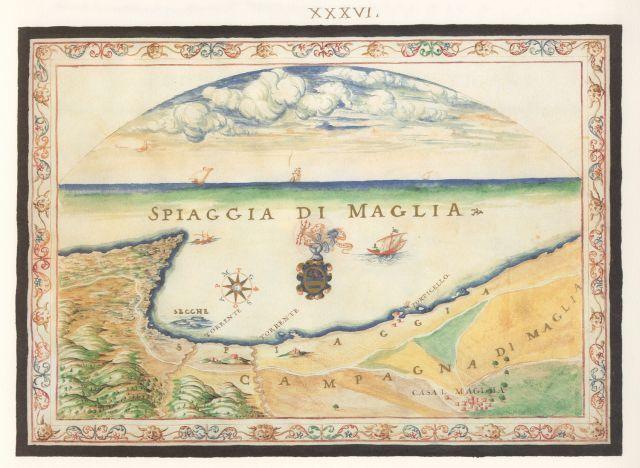 Άποψη της παραλίας των Μαλίων στην Κρήτη....Francesco Basilicata..για την Κρήτη...1618 - 1638.
