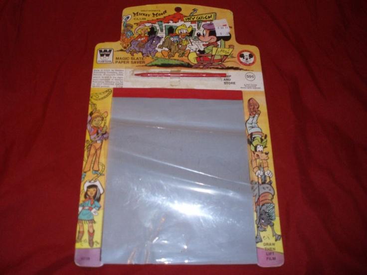 The 70's ipad. Magic slate-YES!! I loved these amazing erasable pads!!!