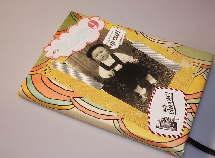 Scrapbooking ist eine Leidenschaft!   Hier siehst du einen von mir, in liebevolles Papier eingefassten Idena Terminkalender A5 2013.