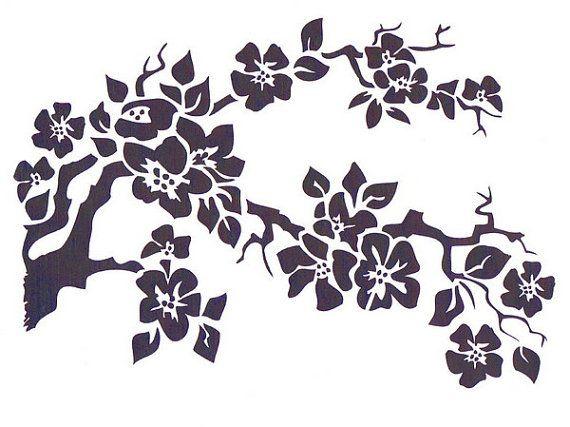 Cherry Blossom Stencil Mylar Stencil Flower by TheBeadSource
