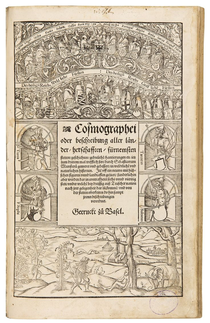 Fifth German edition. This is the celebrated historico-geographical work in German, here in the first edition of Münster's updated and enlarged final version.