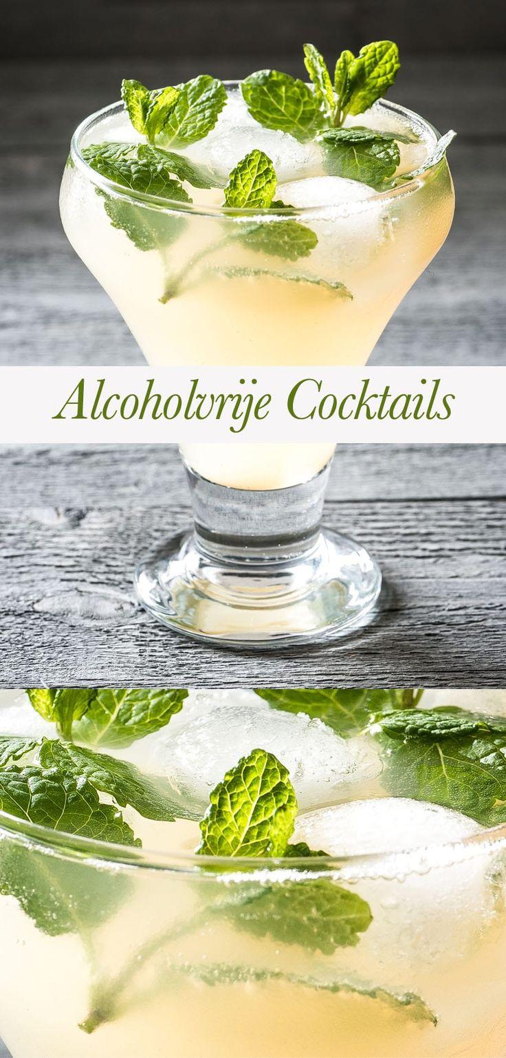Zo maak je een lekkere alcoholvrije cocktail waar niet zoveel suiker in zit. Gezellig mee proosten met eens wat anders dan water of thee!