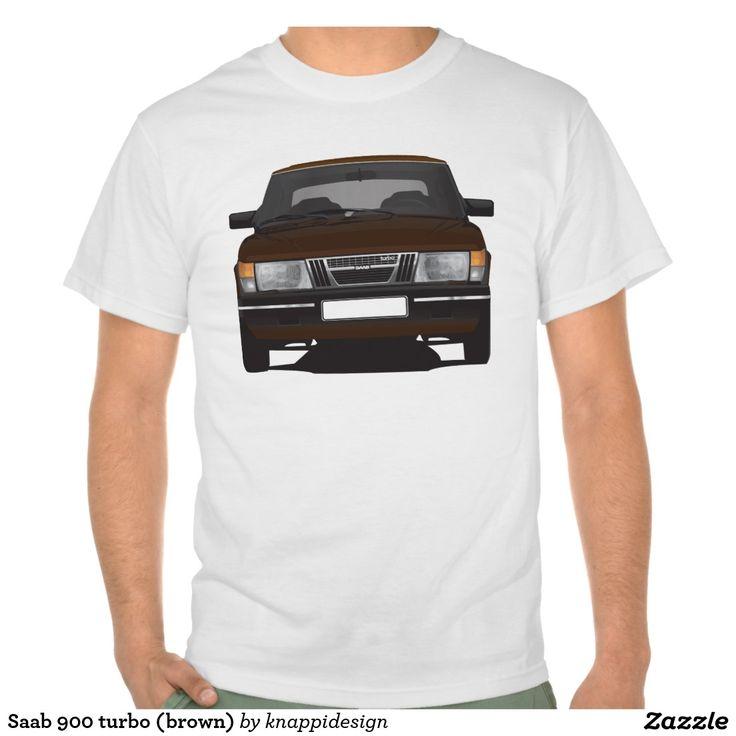 Saab 900 turbo (brown) tee shirts  #saab900 #sweden #sverige #svenska #swedish #bil #auto #car #troja #tshirt #paita #turbo #brown