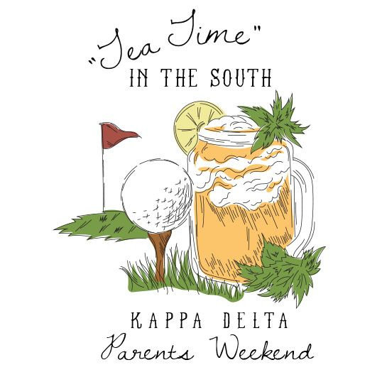 Shirts For Greeks | Kappa Delta Parents Weekend Tea Time in the South