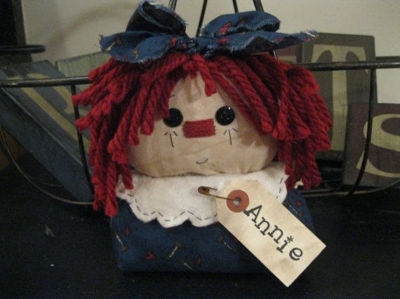 Raggedy Ann Shelf Sitter  Raggedy Ann Doll by LoveAndStitchesToYou