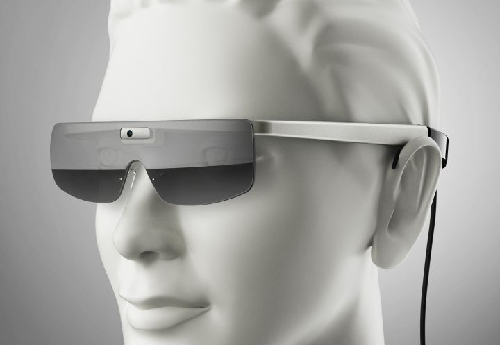 These glasses tap into the brain's visual cortex from behind, without using the eyes at all... which means if the eyes are damaged, this device could still work.
