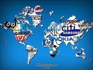 Gambar tersebut menunjukan bahwa saat ini terjadi globalisasi dimana merek-merek perusahaan menjadi global.