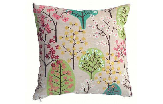 Cushion Cover- Haga Green- Ready to Ship- Next Day- Yellow Cushion- Green Cushion- Retro Cushion- Scandinavian- Contemporary Cushion- UK  OOMF!