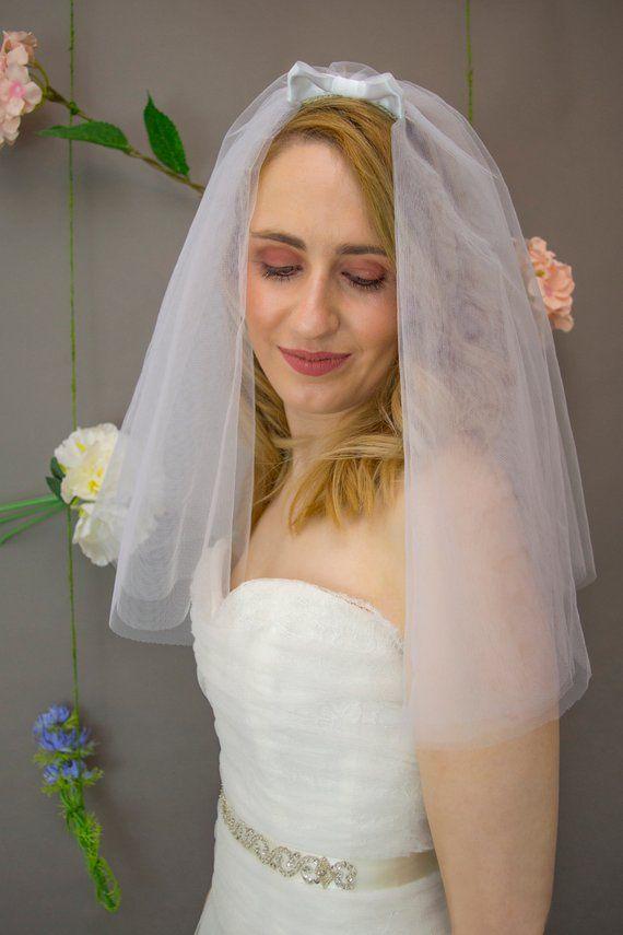 Wedding Veil Vintage Style Bridal 50s