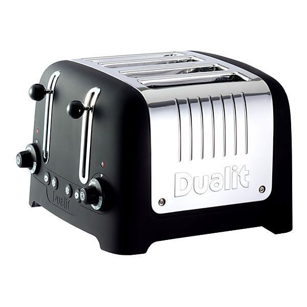 4-Slice Lite Toaster Black Toasters & Ovens ($139) ❤ liked on Polyvore featuring home, kitchen & dining, small appliances, four slice toasters, modern toaster, black toaster oven, 4 slice toasters and four slot toaster