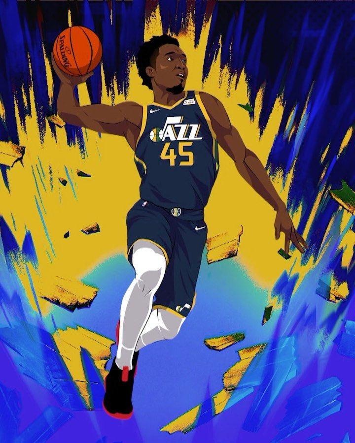 Nba Spidadmitchell S Journey In His Own Words Utahjazz X Lakers 10 30pm Basketball Big4 Bigfour Nba Artwork Nba Art Nba Wallpapers