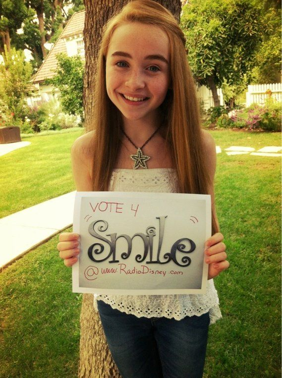 2012 Sabrina Carpenter - already an expert at social media campaigns: Radio Disney contest for her song Smile