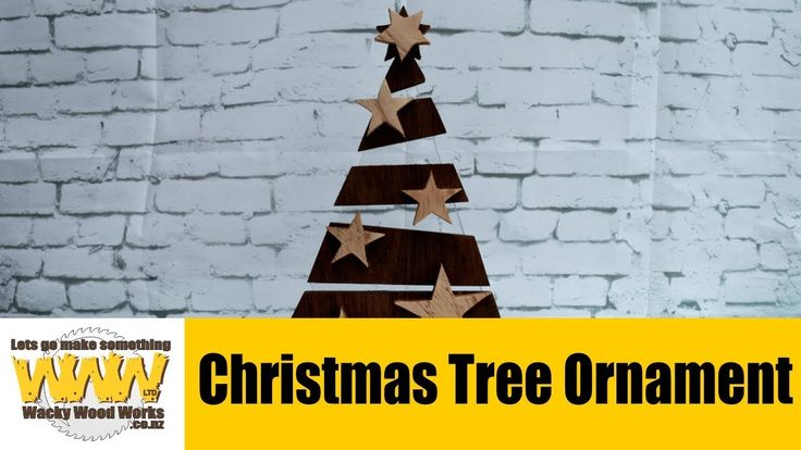 Xmas Tree Ornament - Off the Cuff - Wacky Wood Works.
