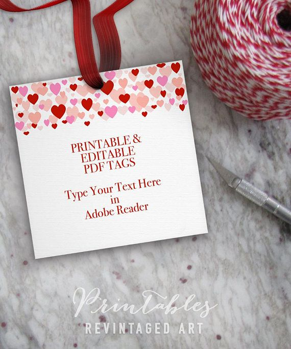 Printable Valentine S Day Gift Tag Template Editable Valentine