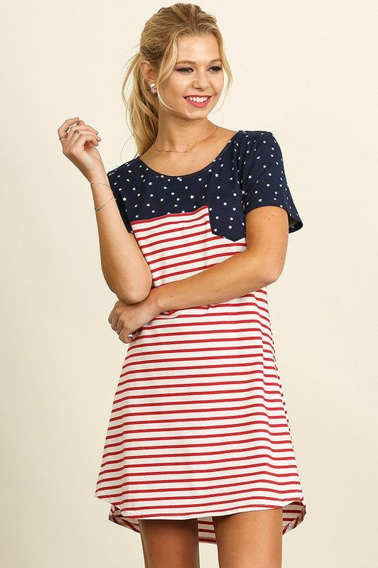 Red White & Beautiful Patriotic Dress