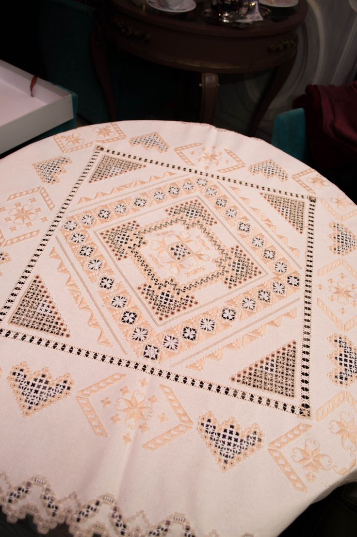 Beautiful needlecraft tablecloth, made in special scandinavian technic embroidery Hardanger. by ArtOfEmbroidery on Etsy https://www.etsy.com/listing/219756688/beautiful-needlecraft-tablecloth-made-in