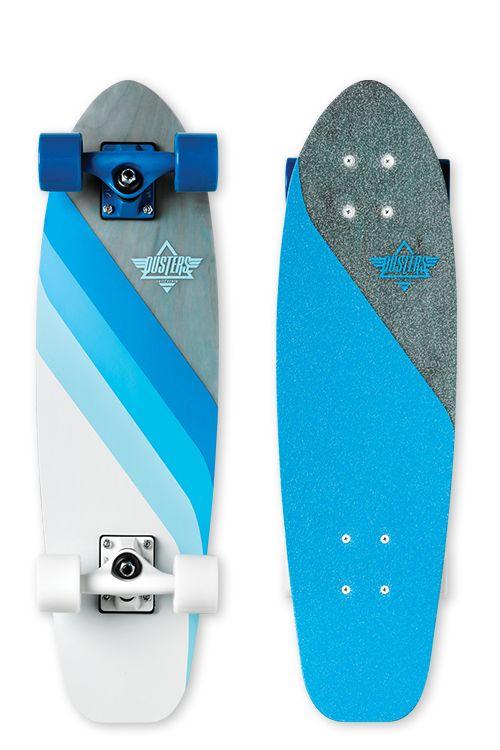 "Glassy Flow Fiberglass   Blue   7.5"" x 26.5""   13.5"" Wheelbase #dusterscalifornia"