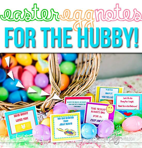 Surprise your man with some Easter egg loves notes