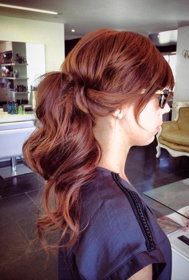 Lovely Natural Copper Hair Color With Dark Violet Lowlights Gold