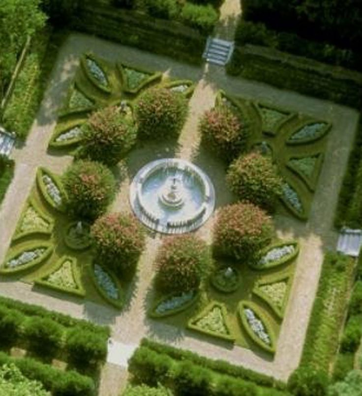 parterre garden embroidering with plants