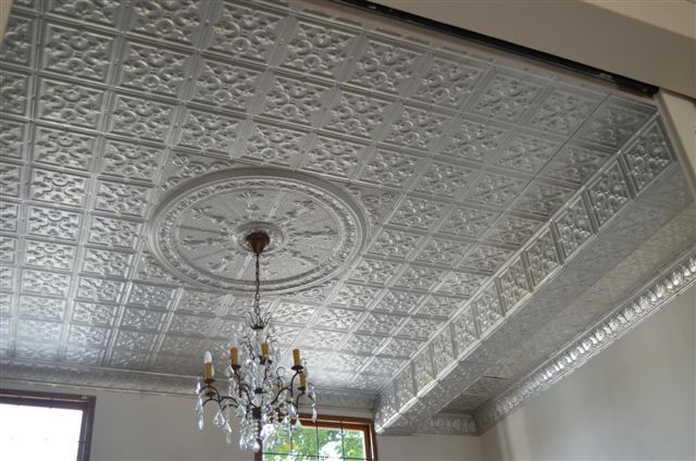 pressed metal ceiling with rosette - Google Search