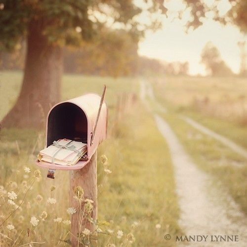 .: Country Roads, Country Living, Mailboxes, Country Life, Things, Mail Boxes, Pink Mailbox, Photography, Love Letters