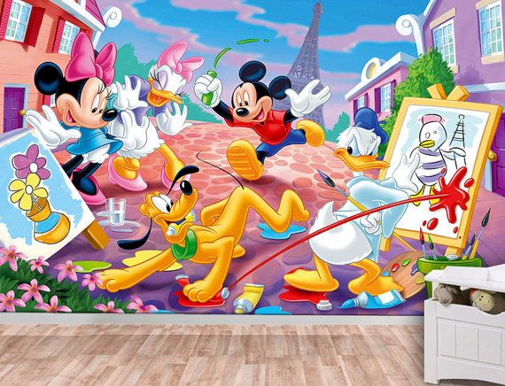 Mickey Mouse Wall Mural Wallpaper Wall Décor Wall Decal