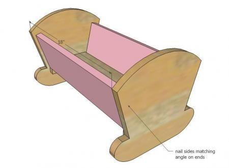 Vintage Doll Cradle – free plans  lots of free wood working patterns