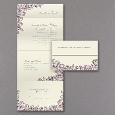 20 best carlson craft wedding invitations images on pinterest a little lace seal n send wedding invitation a little lace makes a big impact especially when you get to choose the color of the lacy design on this junglespirit Gallery
