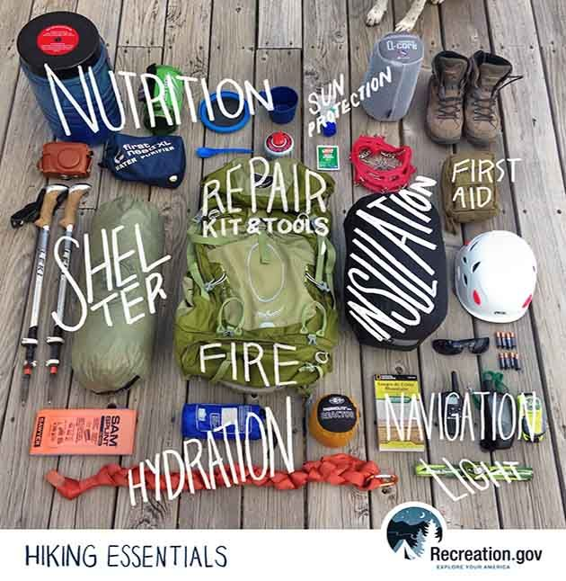 Originally compiled in the 1930s by the Seattle-based The Mountaineers, this list of 10 hiking essentials continues to be relevant today, whether day hiking or heading out on an overnight backpacking trip.