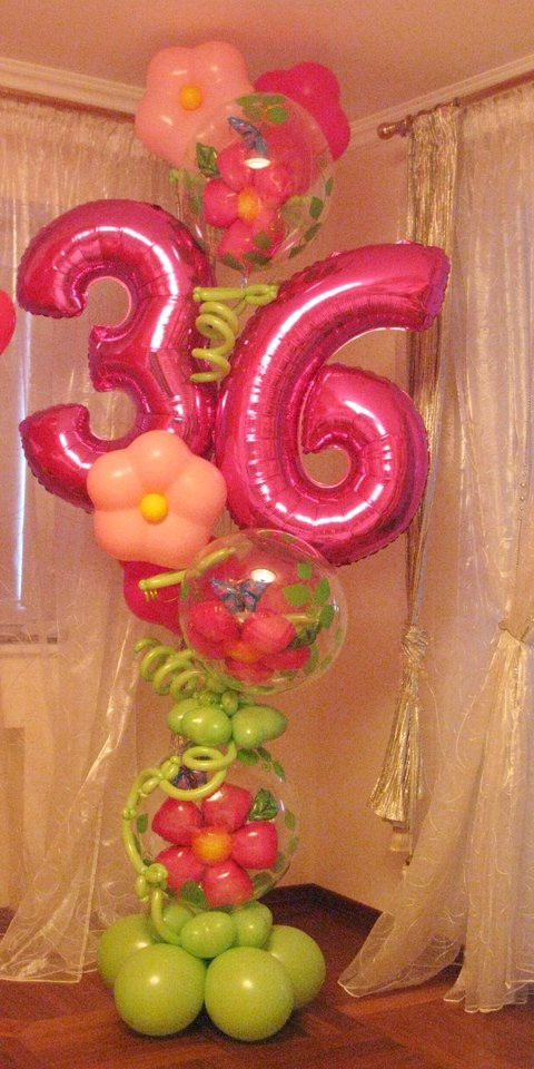 17 best images about numbers on pinterest beautiful for Balloon arrangement ideas