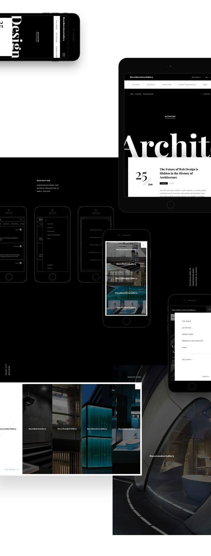 Roca Gallery, Responsive Website on Behance