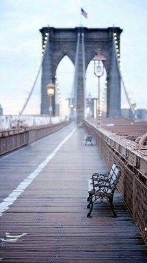 мост, Бруклин, Нью-Йорк, Нью-Йорк, небо, Урбан